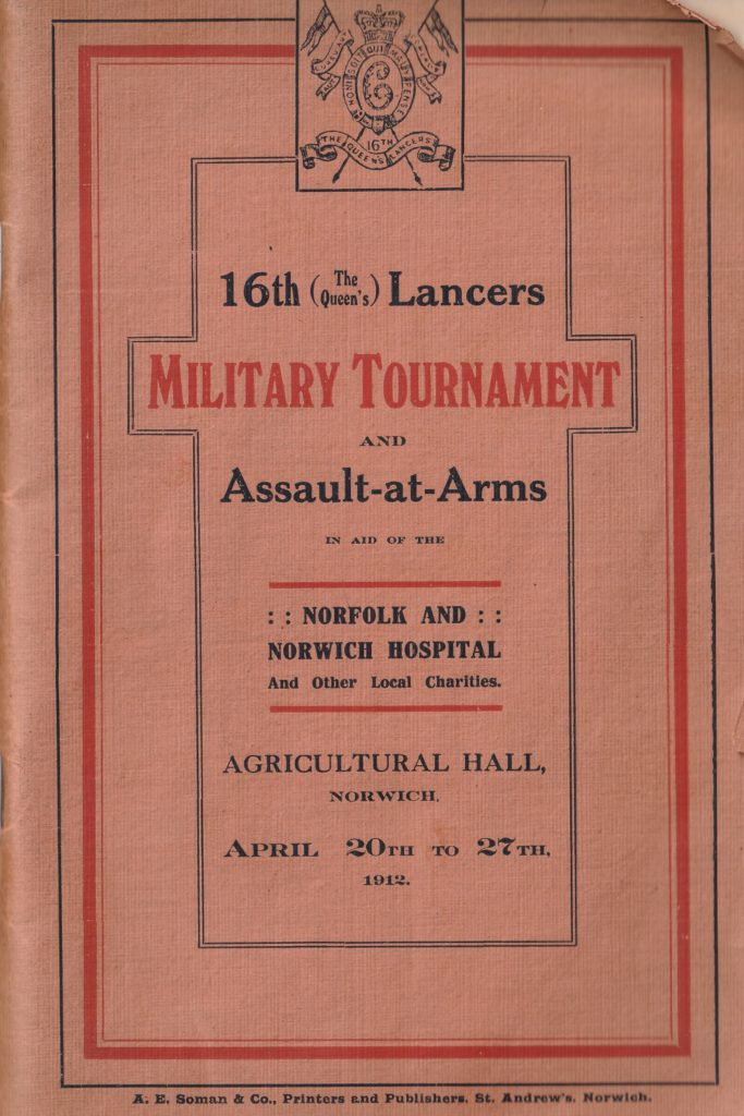 16th (The Queen's) Lancers - Military Tournament Illustrated Records and Programme