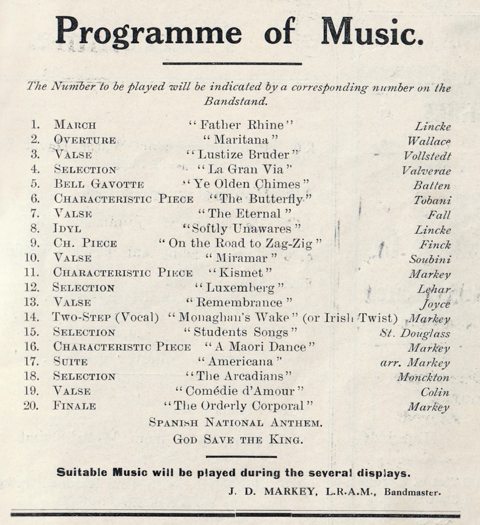 Programme of music